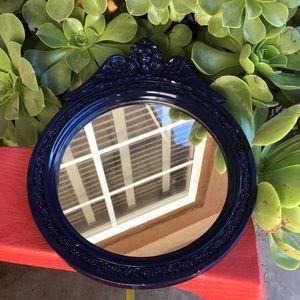 Cherub  navy blue mirror